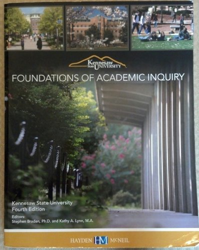 9780738044590: Foundations of Academic Inquiry Custom Kennesaw State University