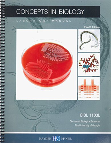 9780738045344 concepts in biology laboratory manual biol 1103l rh abebooks com concepts in biology laboratory manual 6th edition biology 33 introduction to modern concepts of biology lab manual 4th edition