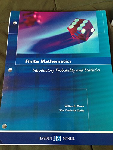 9780738045955: Finite Mathematics Introductory Probability and Statistics