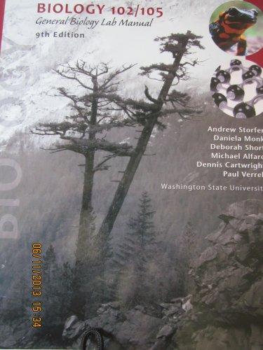 9780738047577: Biology 102/105 General Biology Lab Manual