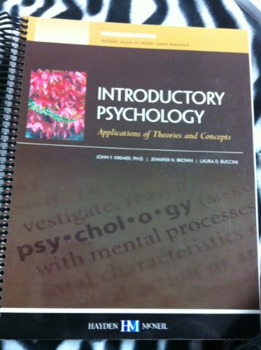 9780738047935: Introductory Psychology: Applications of Theories and Concepts, 14th Edition, Indiana University