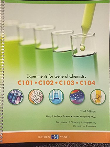 9780738048154: Experiments for General Chemistry (Experiments for General Chemistry 101, 102,103,104)