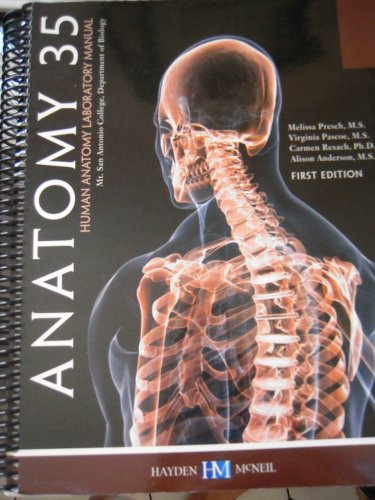 9780738048925 Anatomy 35 Human Anatomy Laboratory Manual First