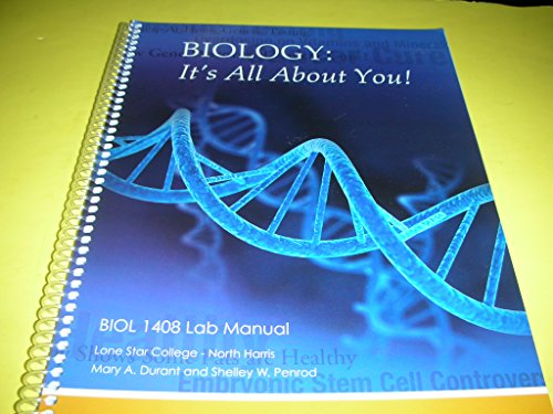 9780738048956: Biology It's All About You BIOL 1408 Lab Manual