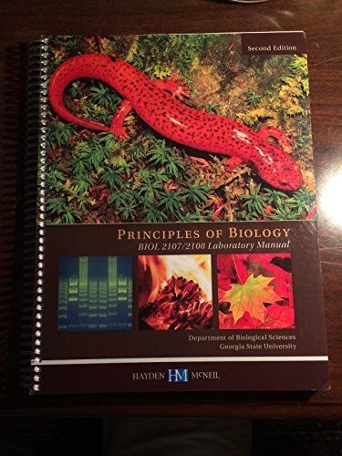 9780738049304: Principles of Biology Biol 2107/2108 Laboratory Manual Pilot Edition Georgia State University
