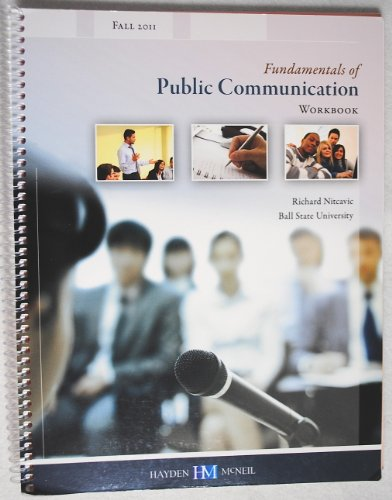 9780738049335: Fundamentals of Public Communication Workbook (Spring 2012; Ball State University)