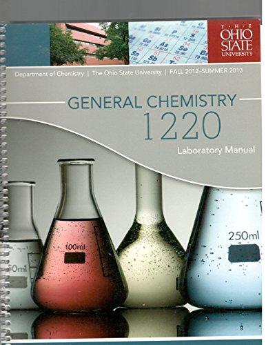 9780738050256: General Chemistry 1220 Laboratory Manual (The Ohio State University)