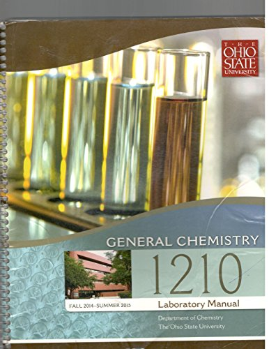 9780738050263: General Chemistry 1210 Laboratory Manual, The Ohio State University, Fall 2012-Summer 2013