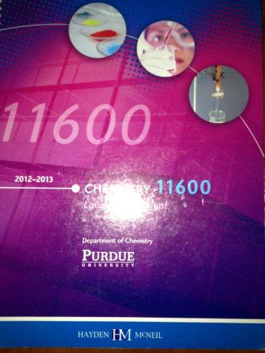 9780738050553: Chemistry 11600 Lab Manual Purdue University