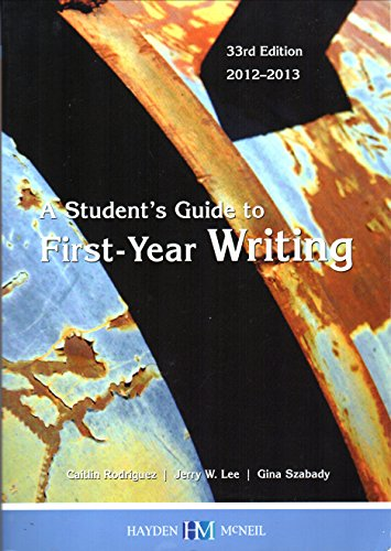 9780738051079: A students guide to first-year writing: 33rd edition