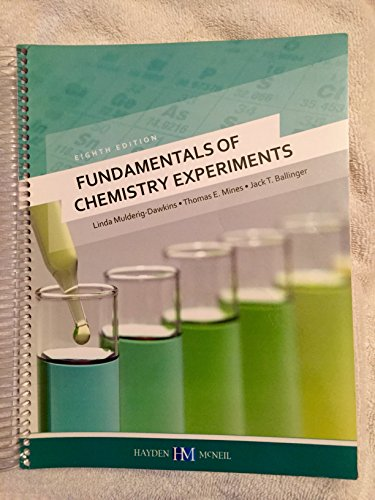 9780738051888: Fundamentals of Chemistry Experiments