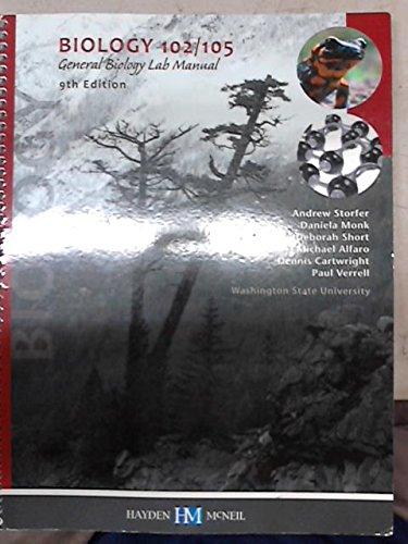 9780738052106: Biology 102/105 General Bioloby Lab Manual - Washington State University
