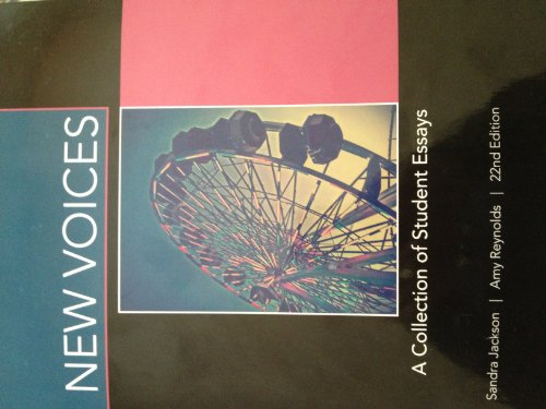 9780738052571: New Voices A Collection of Student Essays (New Voices A Collection of Student Essays)