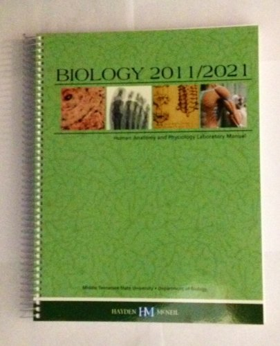 9780738053257: Biology 2011/2021 Human Anatomy and Physiology Laboratory Manual
