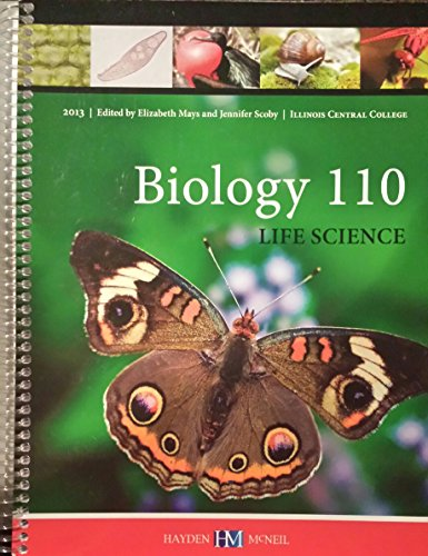 9780738054773: Biology 110 Life Science (Custom Edition for Illinois Central College)