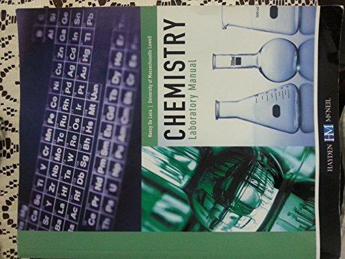 9780738055176: Chemistry Laboratory Manual: UMass Lowell