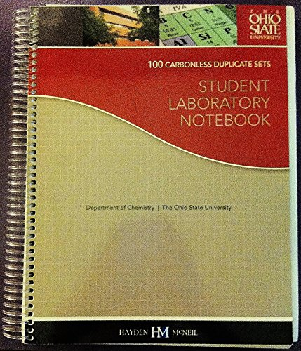 9780738055992: Student Laboratory Notebook, 100 Carbonless Duplicate Sets, The Ohio State University
