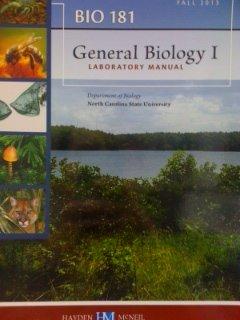 General Biology I Laboratory Manual, Custom Edition for North Carolina State University Department ...
