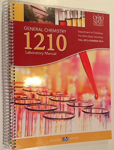 9780738059136: Chemistry 1210, General Chemistry Laboratory Manual, Ohio State University