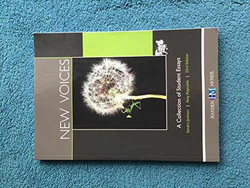 New Voices: A Collection of Student Essays 23rd Edition: Sandra Jackson, Amy Reynolds