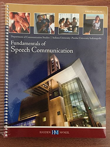 9780738059846: Fundamentals of Speech Communication
