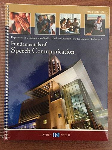 9780738059846: Fundamentals of Speech Communication
