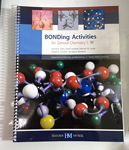 9780738060088: BONDing Activities for General Chemistry 1 9th Edition Florida Atlantic University