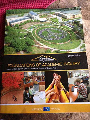 9780738060705: Foundations of Academic Inquiry 6th Edition