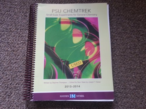PSU Chemtrek: Small-scale Experiments for General Chemistry,