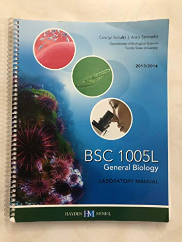 9780738061177: BSC 1005l General Biology Laboratory Manual