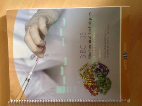 9780738061351: BIBC 103: Biochemical Techniques Lab Manual