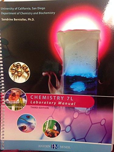 9780738061566: CHEMISTRY 7L LABORATORY MANUAL UCSD