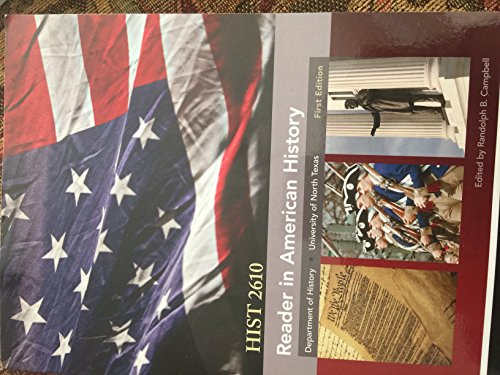 9780738062143: Reader in American History HIST 2610