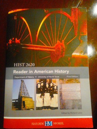 9780738062150: Reader in American History, HIST 2620 (University of North Texas, Department of History, 1st Edition)