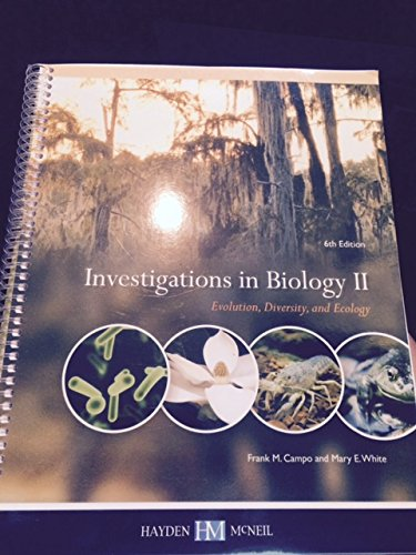 9780738062174: Investigations in Biology II