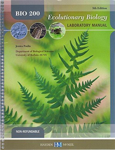 9780738066738: Bio 200 Evolutionary Biology Laboratory Manual - Fifth Edition