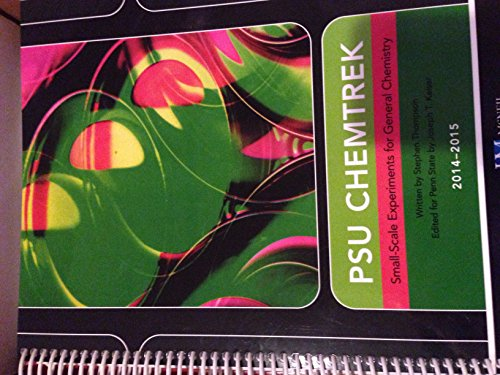 9780738066837: PSU Chemtrek: Small-Scale Experiments for General Chemistry 2014-15
