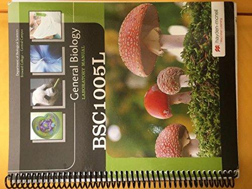 9780738069395: General Biology Laboratory Manual Broward College Fall 2014 BSC1005L