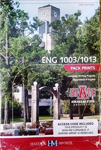 9780738071558: ENG 1003/1013 Pack Prints Custom for Arkansas State University