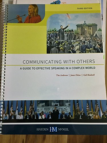 9780738074023: Communicating with Others - A Guide to Effective Speaking in a Complex World