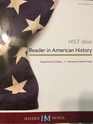 9780738074641: Reader in American History (UNT History 2610)