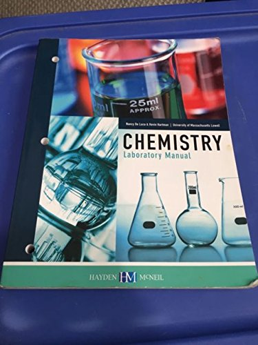9780738076065: CHEM 124 Chemistry Laboratory Manual, University of Massachusets