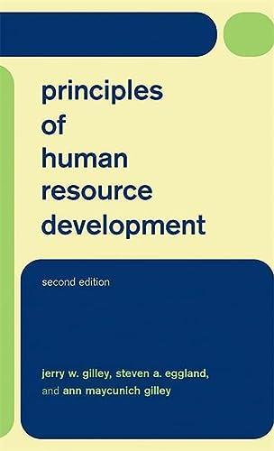 9780738206042: Principles Of Human Resource Development