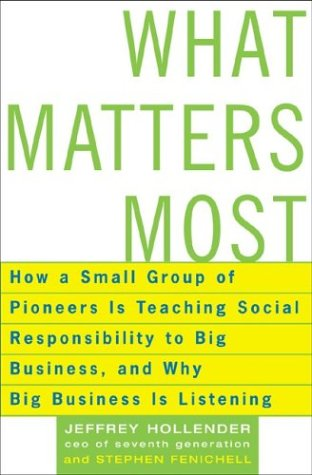 What Matters Most: How A Small Group Of Pioneers Is Teaching Social Responsibility To Big Busines...