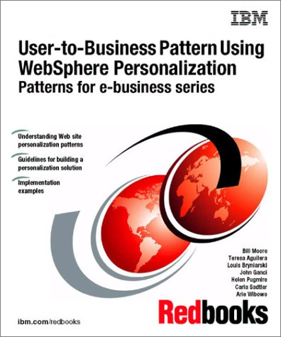 User-To-Business Pattern Using Websphere Personalization Patterns for: IBM Redbooks