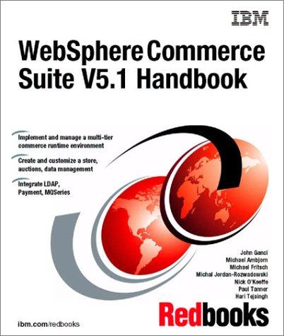 Websphere Commerce Suite V5.1 Handbook (IBM Redbooks): IBM Redbooks
