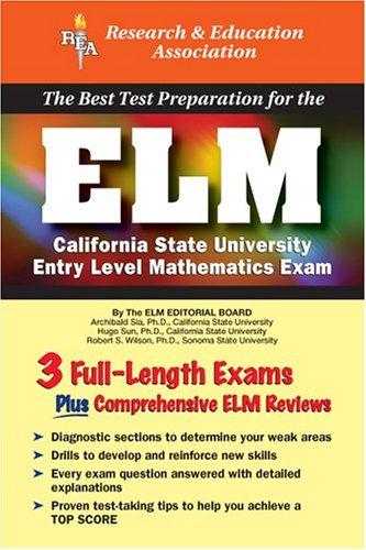 9780738600161: ELM (Rea) - The Best Test Prep for the Entry Level Mathematics Exam (Test Preps)