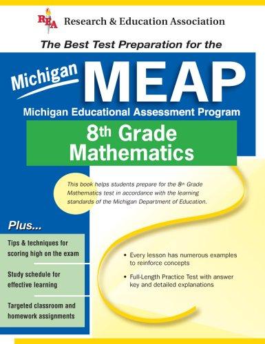 9780738600246: Michigan MEAP Grade 8 Math (REA) - The Best Test Prep for MI Grade 8 Math (Michigan MEAP Test Preparation)