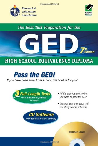 9780738600437: GED w/ CD-ROM (REA) - The Best Test Prep for the GED: 7th Edition (Test Preps)