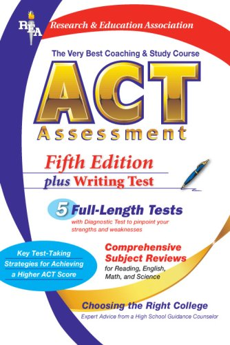 9780738600550: ACT Assessment (Rea) - The Very Best Coaching and Study Course for the ACT (Test Preps)